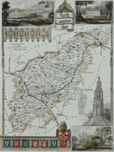 Load image into Gallery viewer, Northamptonshire - Antique Map by Thomas Moule circa 1848