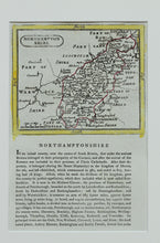 Load image into Gallery viewer, Northamptonshire - Antique Map by Seller Grose circa 1787