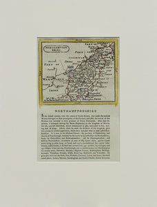 Northamptonshire - Antique Map by Seller Grose circa 1787