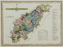 Load image into Gallery viewer, Northamptonshire - Antique Map by J Wallis circa 1812