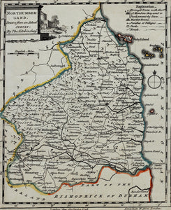 Northumberland - Antique Map by Thomas Kitchin circa 1748