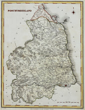 Load image into Gallery viewer, Northumberland - Antique Map by J&C Walker circa 1850