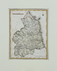 Northumberland - Antique Map by J&C Walker circa 1850