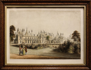 The Pavilion Brighton, West View - Aquatint circa 1835