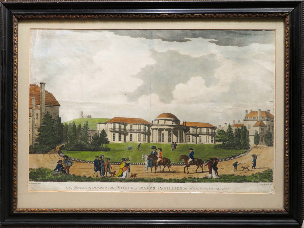 His Royal Highness The Prince of Wales Pavillion at Brighthelmstone - Antique Aquatint 1788