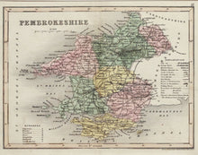 Load image into Gallery viewer, Pembrokeshire - Antique Map by J Archer circa 1846