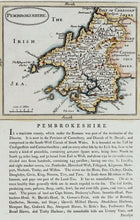 Load image into Gallery viewer, Pembrokeshire - Antique Map by Seller Grose circa 1785