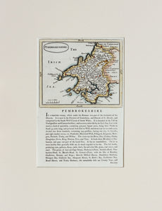 Pembrokeshire - Antique Map by Seller Grose circa 1785