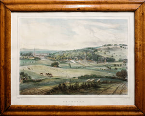 Petworth From Brinksole Heath - Lithograph circa 1840s