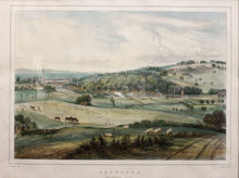 Load image into Gallery viewer, Petworth From Brinksole Heath - Lithograph circa 1840s