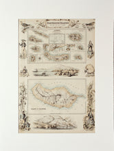 Load image into Gallery viewer, Portuguese Islands in the Atlantic Ocean - Antique Map circa 1862