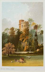 Princes Tower Jersey - Antique Chromolithograph circa 1880