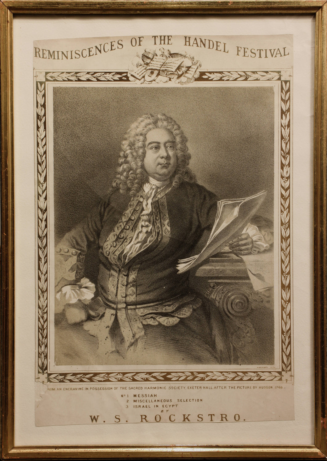 Reminiscences of the Handel Festival - Lithograph circa 1860s