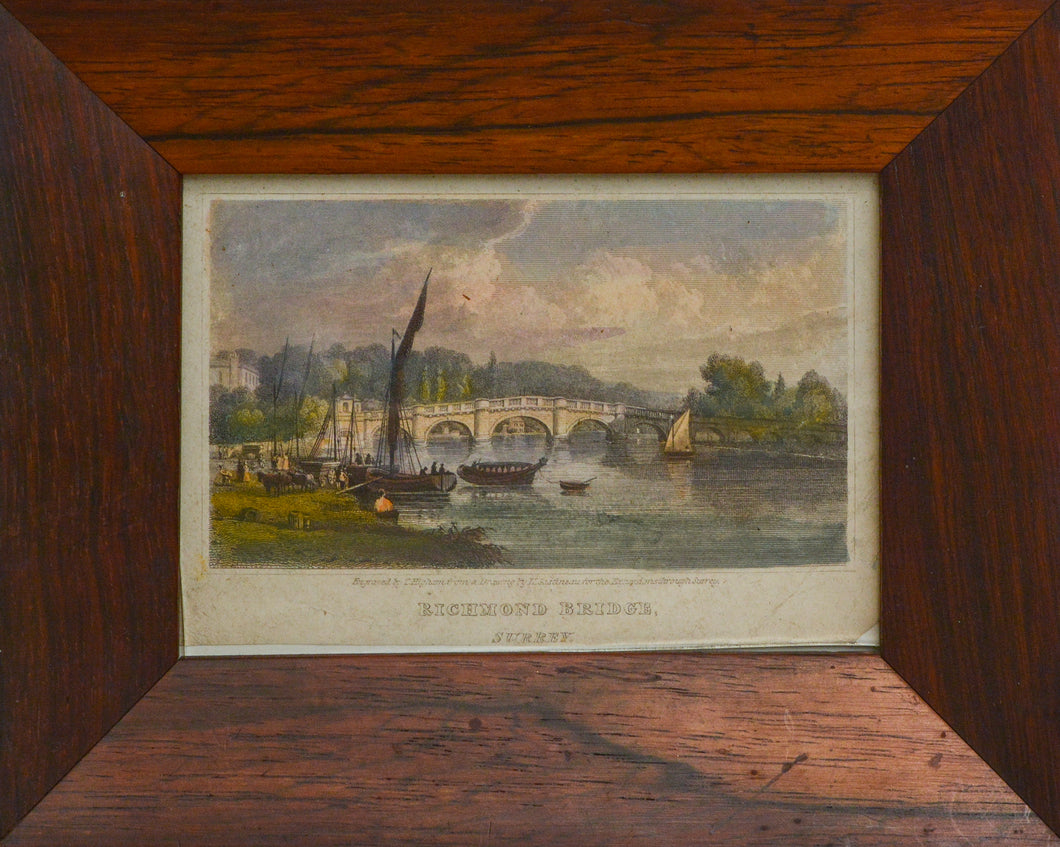 Richmond Bridge - Antique Engraving circa 1820s