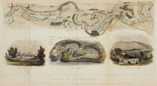 Load image into Gallery viewer, Course of the River Mole - Antique Map with Illustrations by N Whittock 1841