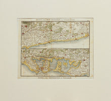 Load image into Gallery viewer, Two Route Maps of the Sussex Coast - Antique Map by Paterson circa 1824