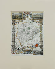 Load image into Gallery viewer, Rutlandshire - Antique Map by Thomas Moule circa 1843