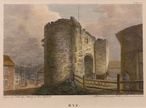 Rye Antique Copper Engraving 1798
