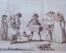 Load image into Gallery viewer, A Band of Savoyards - Antique Stipple Engraving 1785