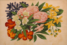 Load image into Gallery viewer, Set of Three Chinese Rice Paper Paintings of Flowers, Anglo-Chinese School, circa 1850 - 1880