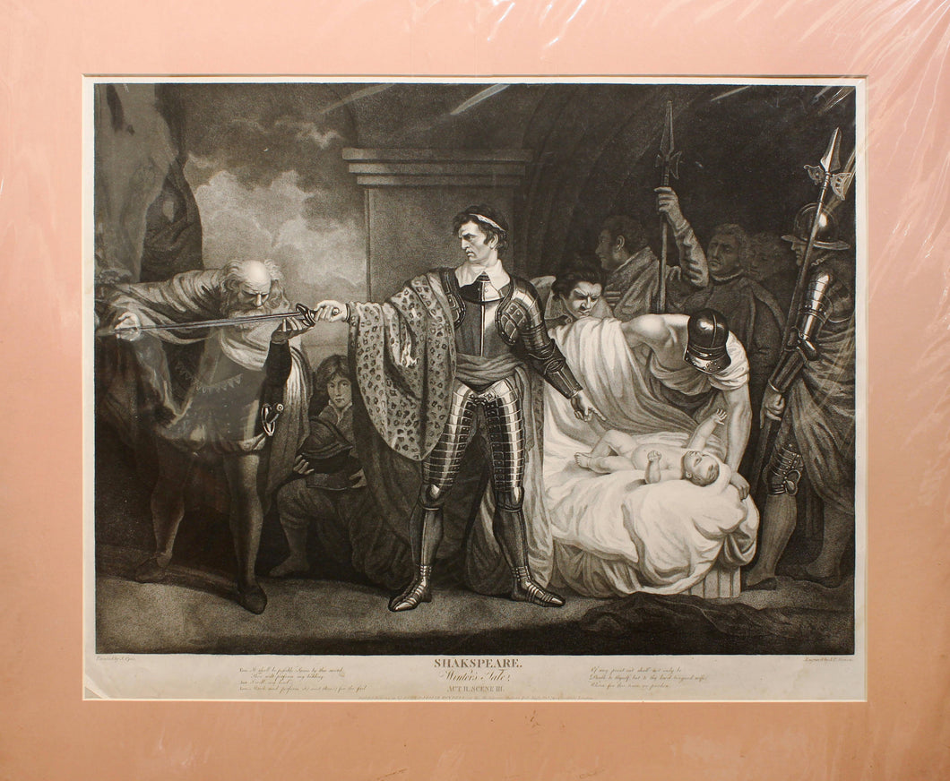 Shakespeare, Winters Tale Superb Stipple Engraving London 1793