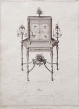 Load image into Gallery viewer, Cabinet Design by T Sheraton - Antique Copper Engraving 1793