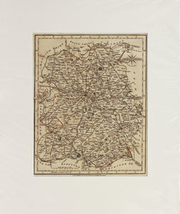 Shropshire - Antique Map by John Cary 1793