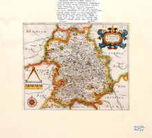 Load image into Gallery viewer, Shropshire - Antique Map by William Hole 1610