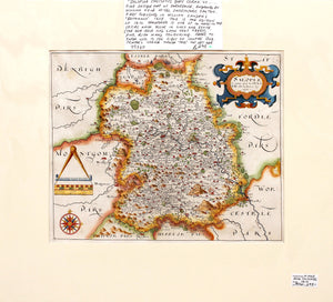 Shropshire - Antique Map by William Hole 1610