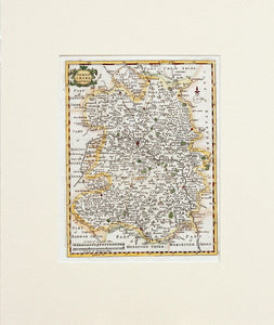 Shropshire - Antique Map by Robert Morden 1701 - 1708