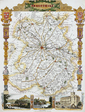 Load image into Gallery viewer, Shropshire - Antique Map by Thomas Moule circa 1848