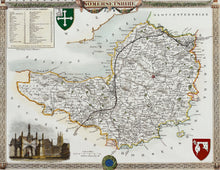 Load image into Gallery viewer, Somersetshire - Antique Map by Thomas Moule circa1848