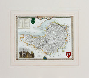 Somersetshire - Antique Map by Thomas Moule circa 1848