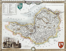 Load image into Gallery viewer, Somersetshire - Antique Map by Thomas Moule 1836 - 1848