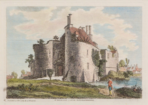 St Briavells Castle Gloucestershire - Antique Copper Engraving circa 1783