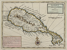 Load image into Gallery viewer, The Island of St Christophers alias St Kitts - Antique Map by H Moll 1729/32