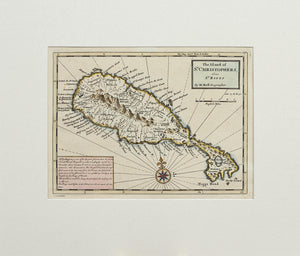 The Island of St Christophers alias St Kitts - Antique Map by H Moll 1729/32