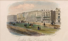 Load image into Gallery viewer, Eversfield Place St Leonards on Sea - Antique Steel Engraving circa 1853
