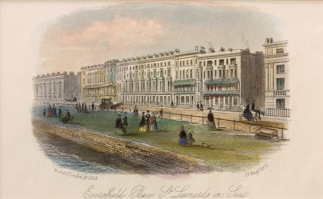 Eversfield Place St Leonards on Sea - Antique Steel Engraving circa 1853