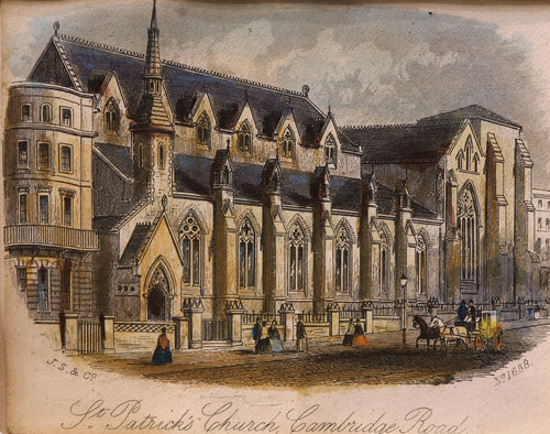 St Patricks Church Hove - Antique Steel Engraving circa 1860