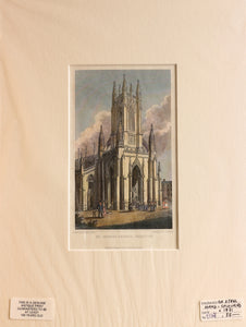 St Peters Church Brighton - Steel Engraving circa 1831