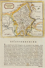 Load image into Gallery viewer, Staffordshire - Antique Map by Seller/Grose circa 1785