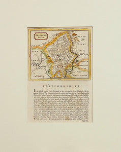Staffordshire - Antique Map by Seller/Grose circa 1785