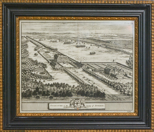 Stansted in the County of Sussex - Antique Copper Engraving circa 1700