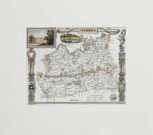 Load image into Gallery viewer, Surrey - Antique Map by Thomas Moule circa 1838