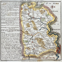 Load image into Gallery viewer, A Map of Surrey - Antique Map by WH Toms 1742