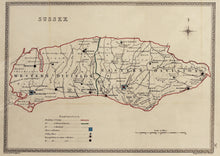 Load image into Gallery viewer, Sussex - Antique Map by J&C Walker circa 1838