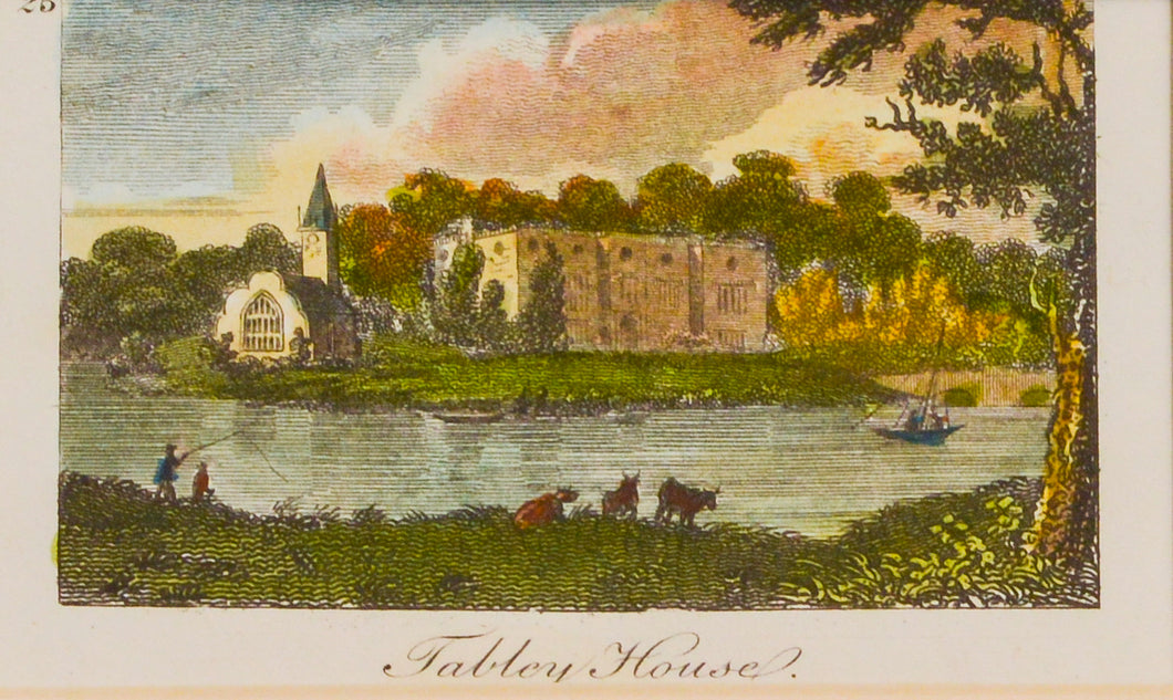 Tabley House Cheshire - Antique Copper Engraving circa 1805