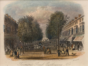 Terminus Road Eastbourne -  Antique Steel Engraving circa 1850