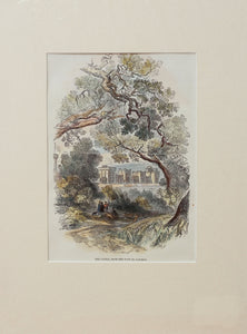 The Castle from the Path to Datchet - Antique Wood Engraving circa 1858